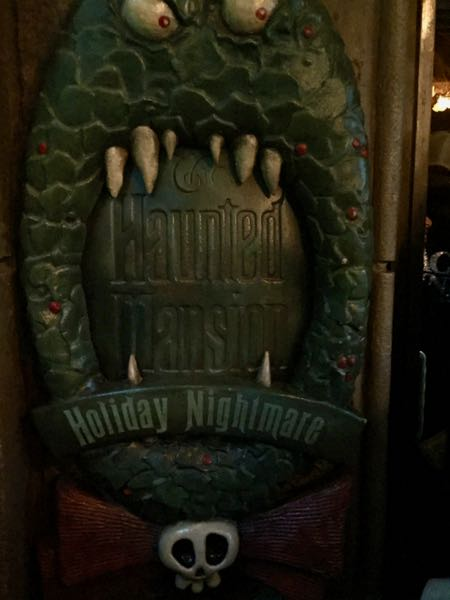 Halloween was the theme at the Haunted Mansion—my first time to see it