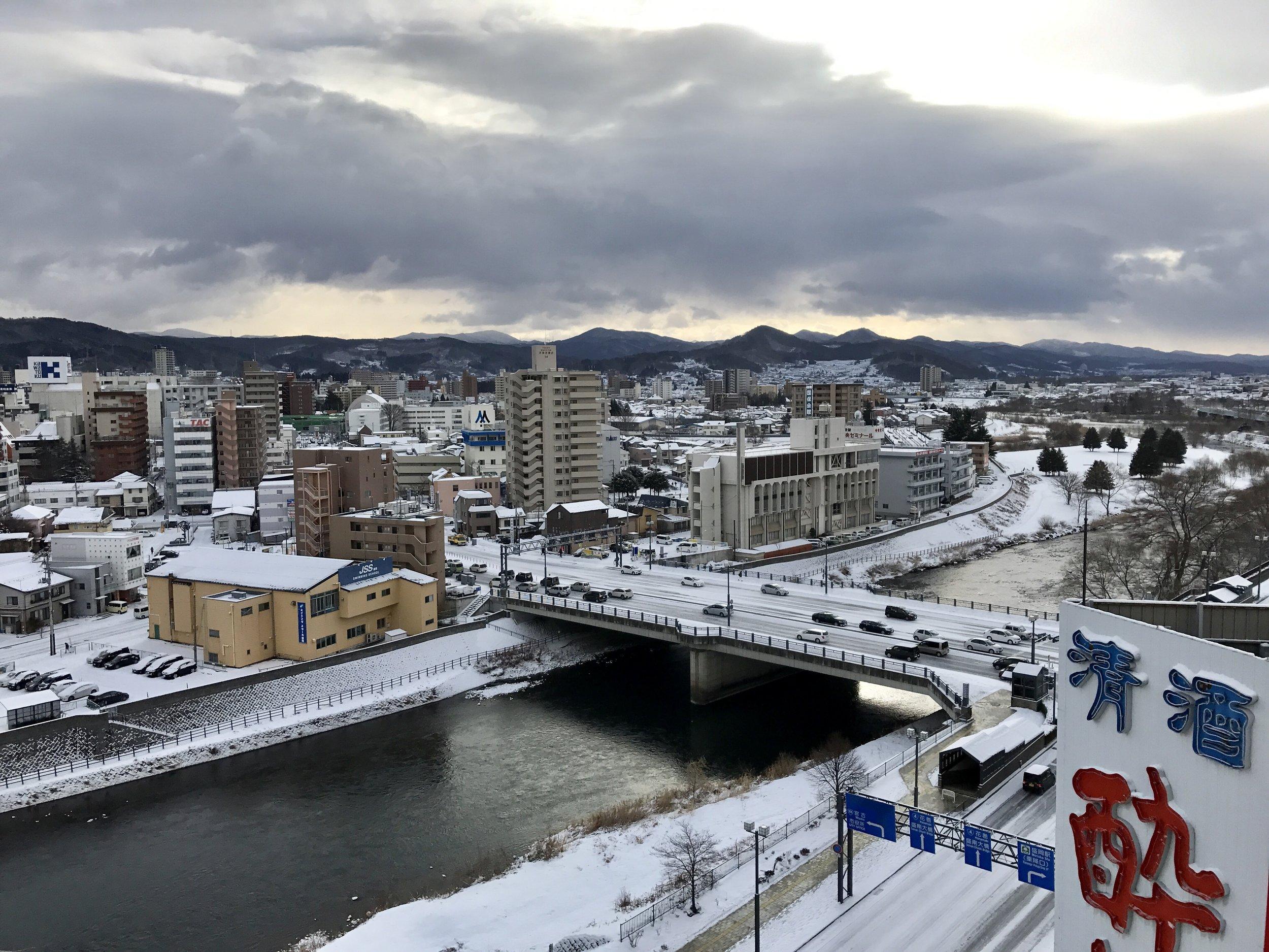 Downtown Morioka, -4 C atm