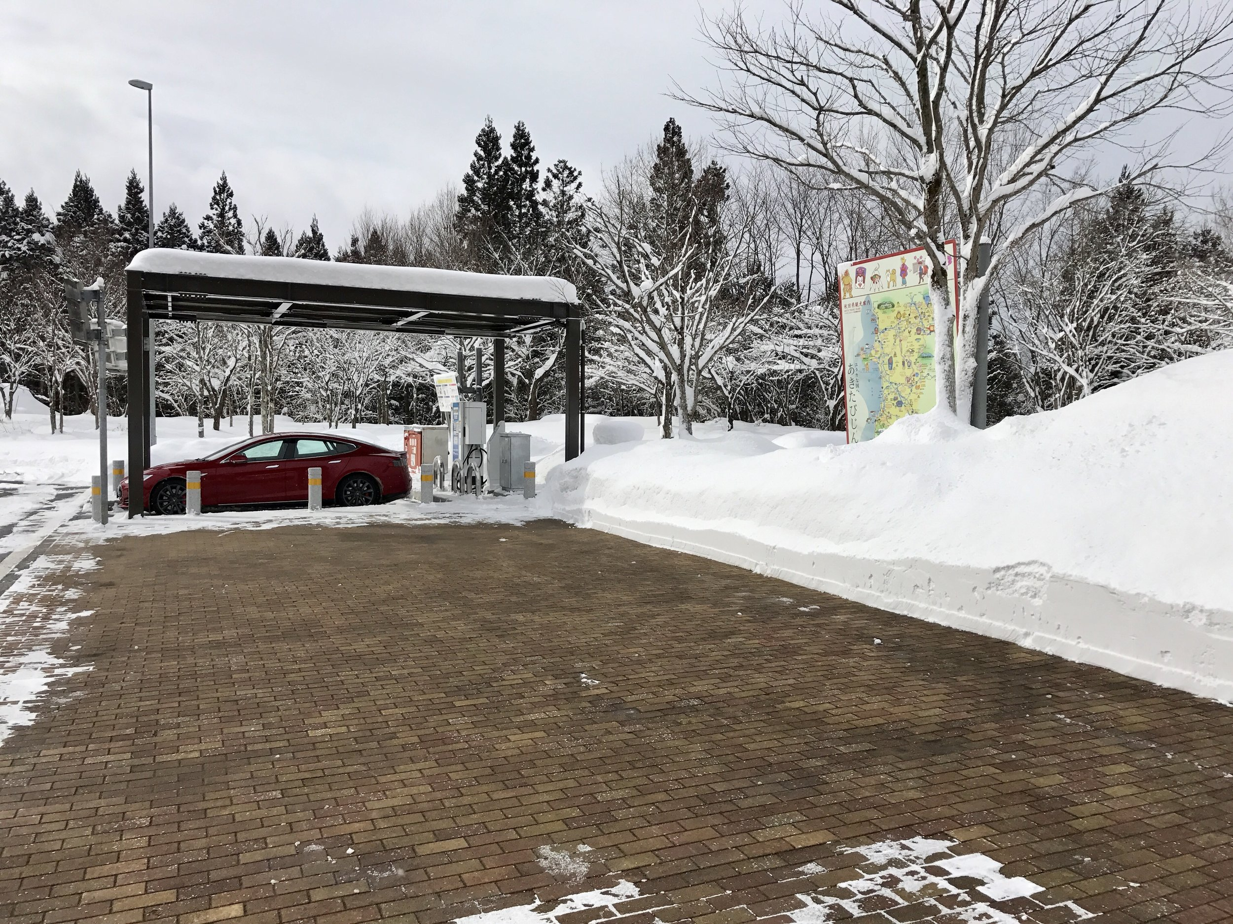50 kW CHAdeMO in the snow