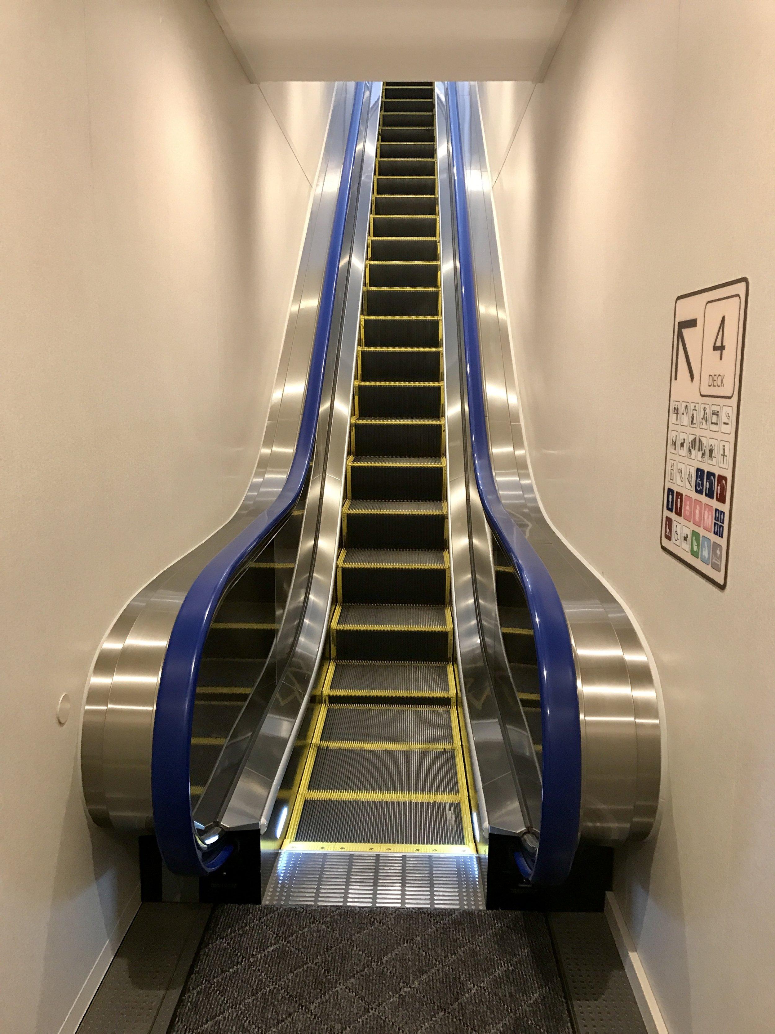 Escalators on a ferry!