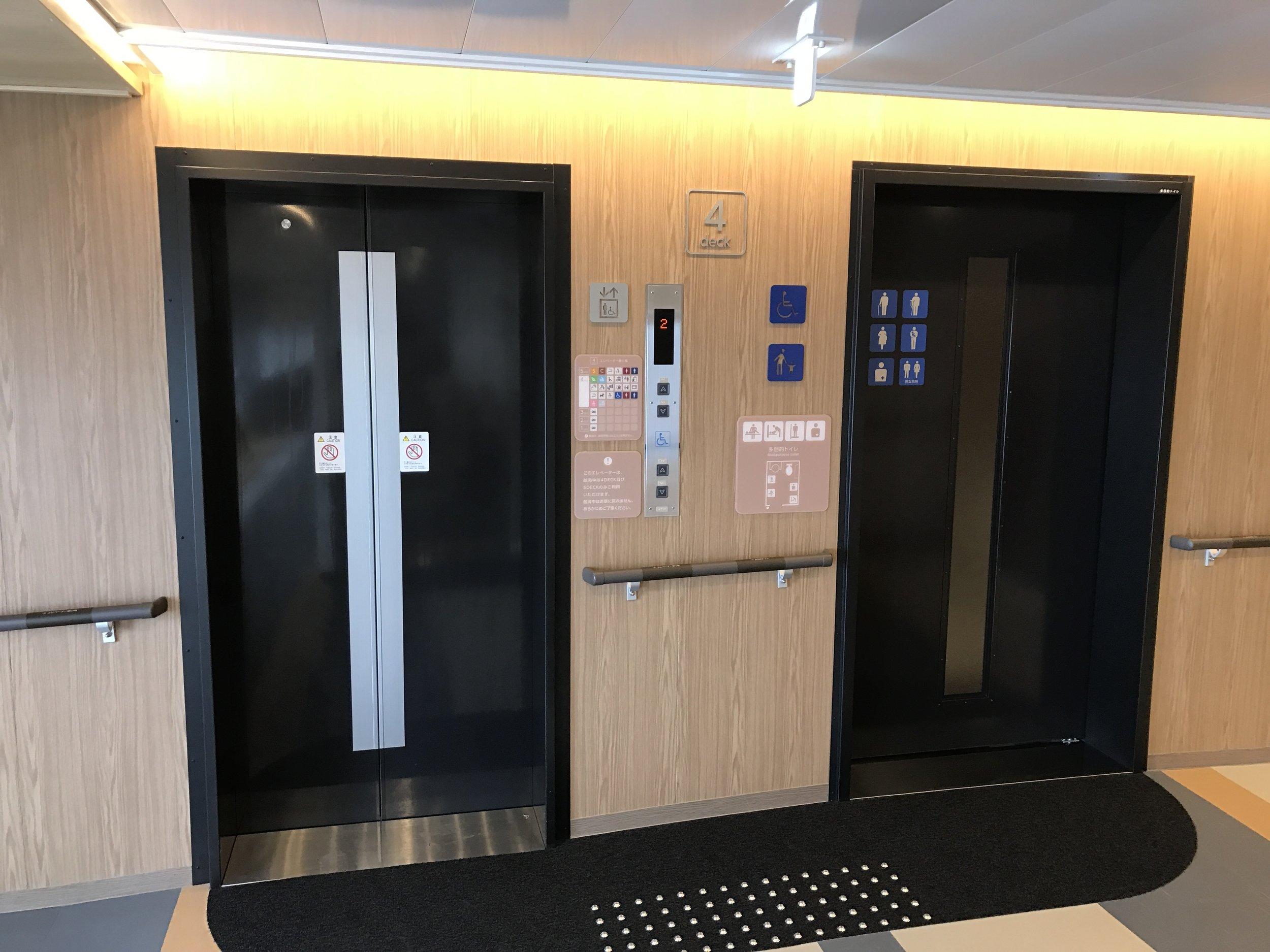 Elevators on a ferry!