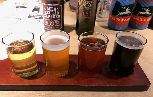 Four flights of Oregon craft beers