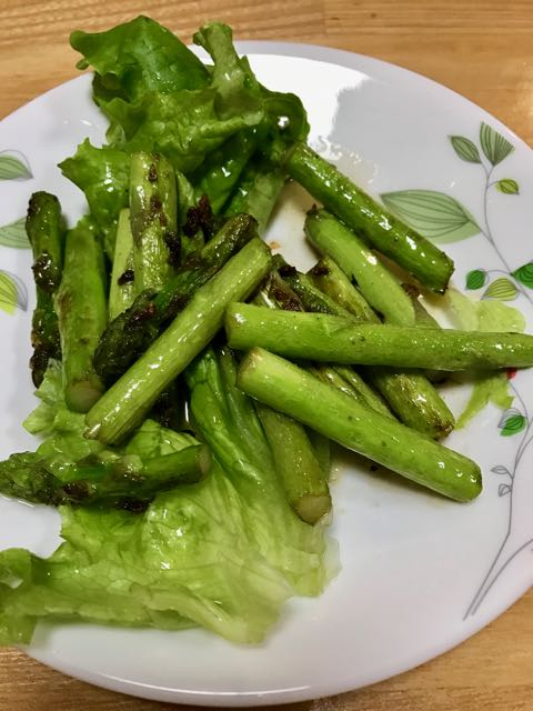 Asparagus cooked in butter! This was incredible!