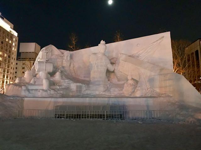 This sculpture had a Greek theme