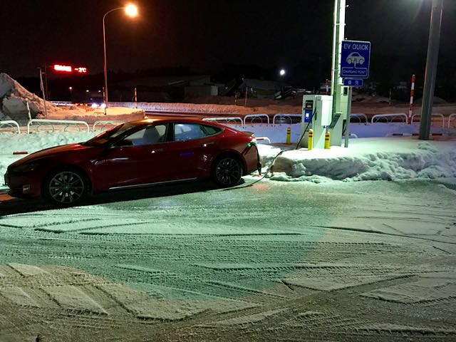 There was a lot of ice around Aomori at 5 o-clock in the morning; I was siding all over, but the car was not!