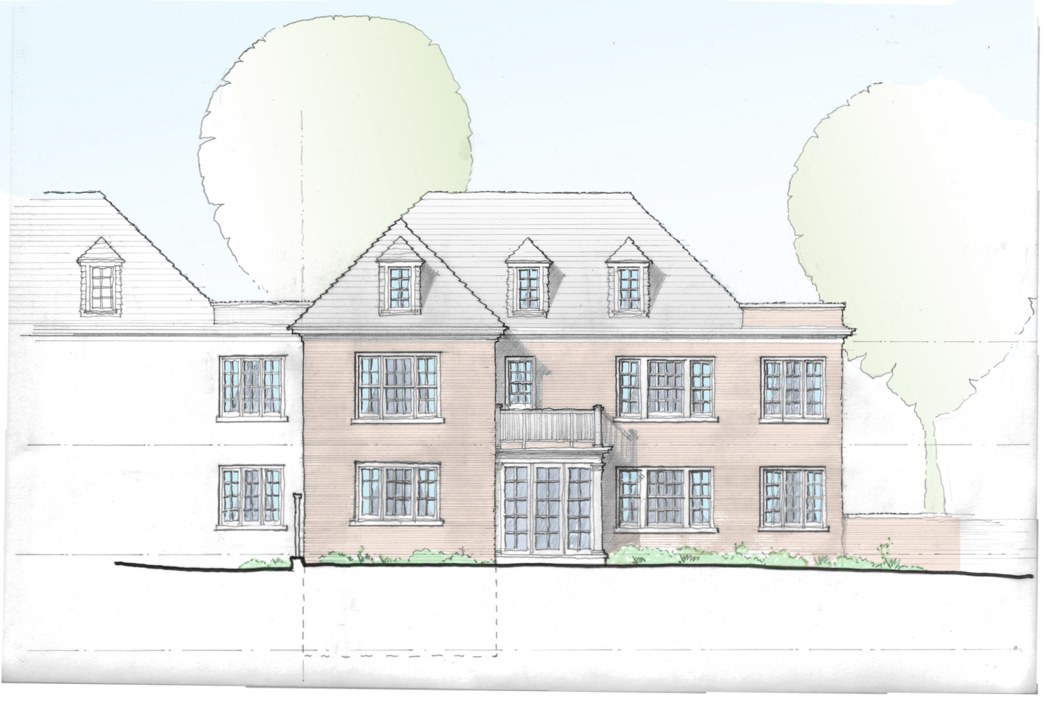 Rear Elevation-Option 1