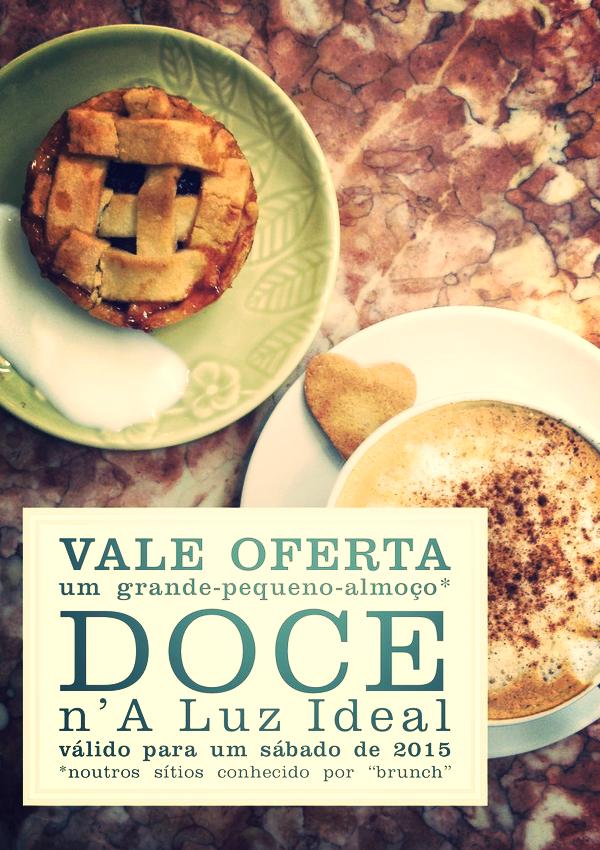 Vale um grande-pequeno-almoço doce     Iogurte com granola, torrada, fatia de bolo sumo do dia, bebida quente.    6€  (preço promocionalválido até 31.12.2014)
