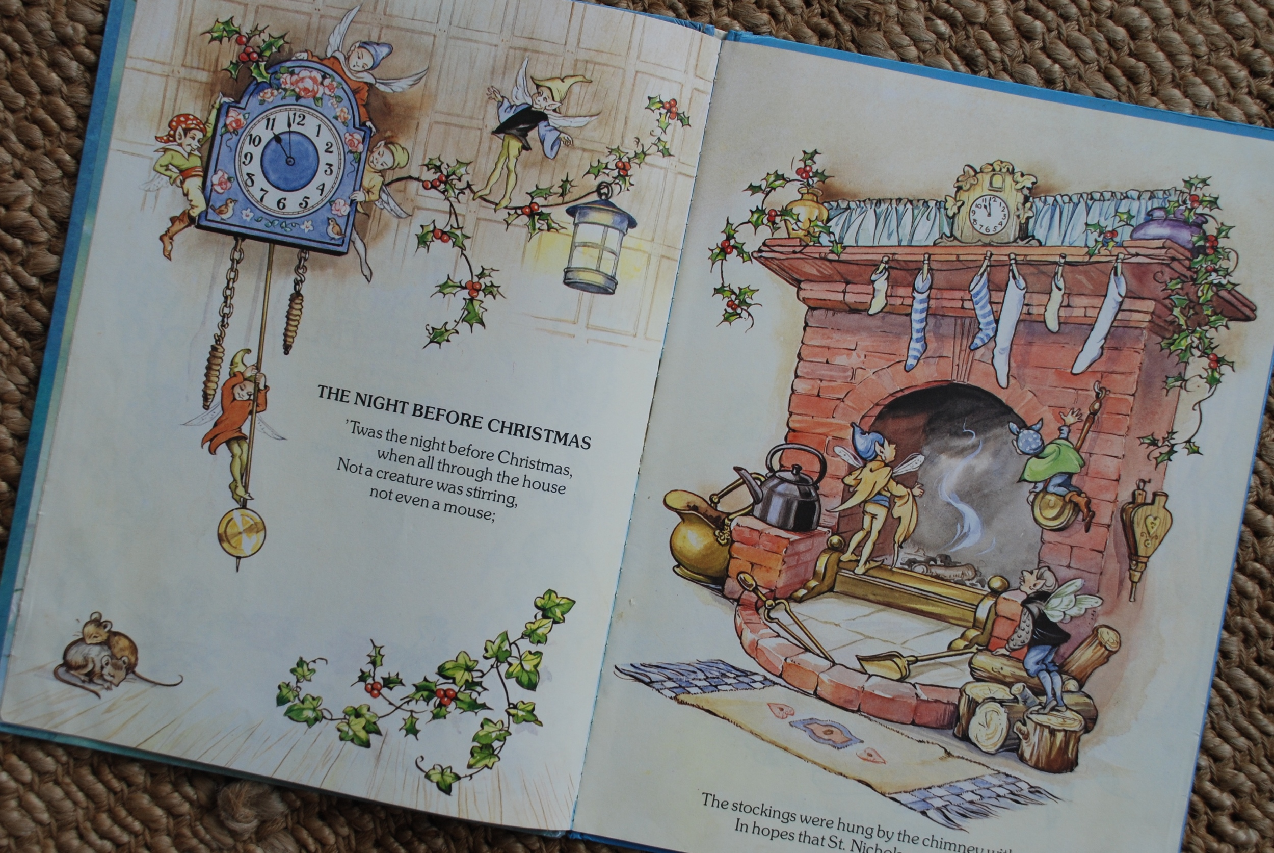The Night Before Christmas by Clement C. Moore L.L.D, Illustrated by Rene Cloke