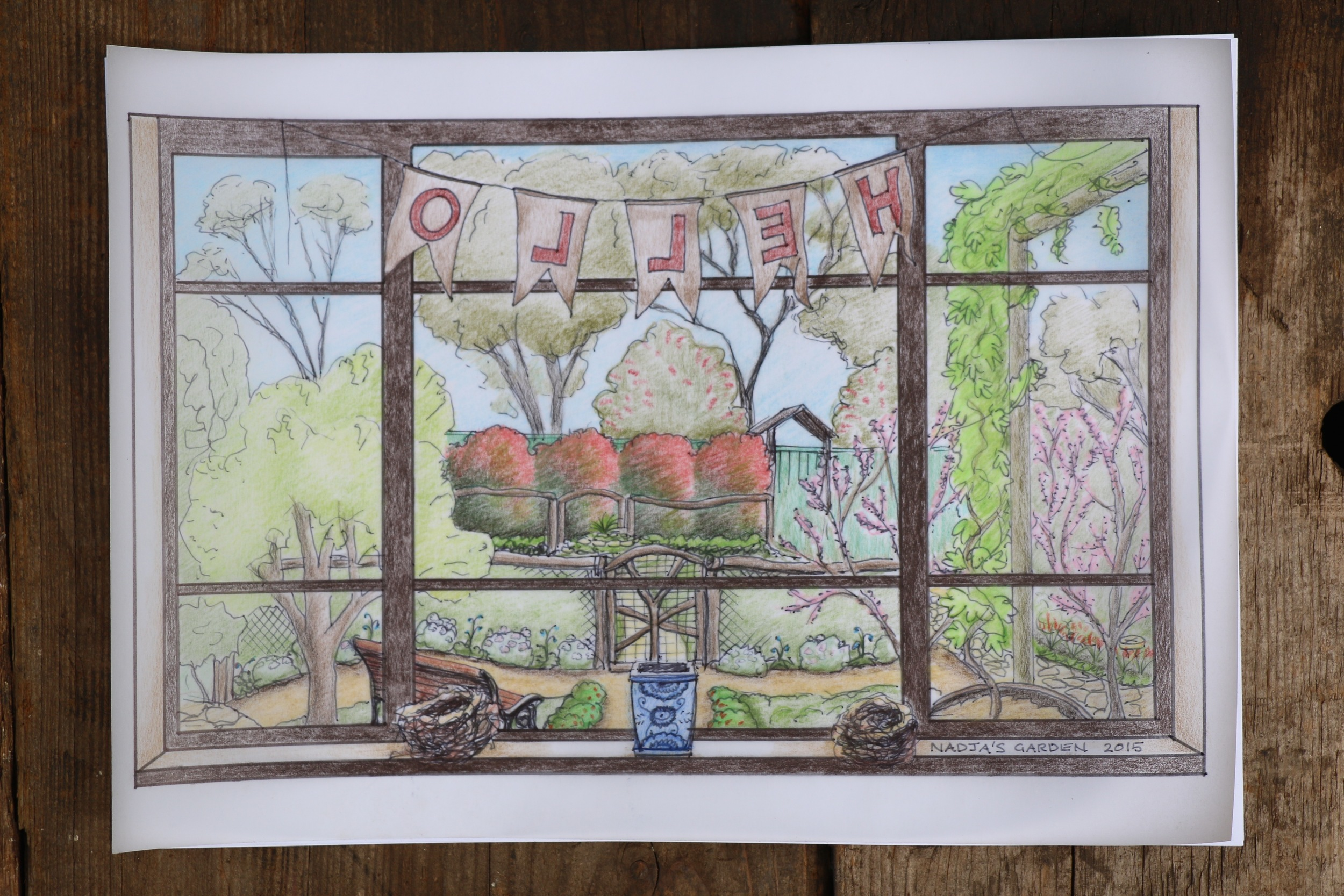 All artwork in this post was created by Nadja Osterstock of   Nadja's Garden   - gorgeous isn't it!?!