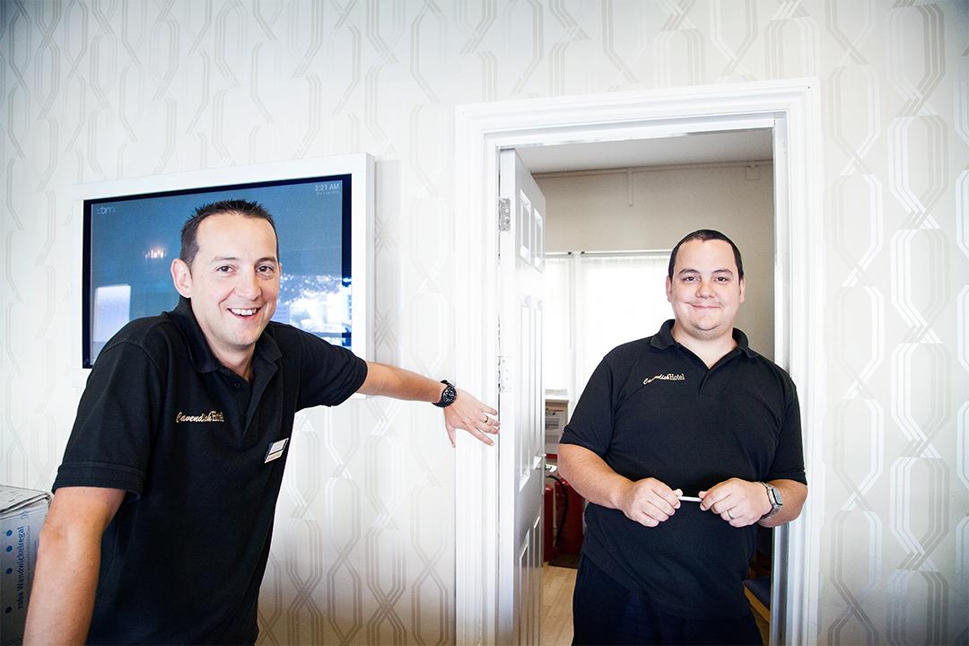 brothers, James Ryder, General Manager (left) and Charles Ryder,