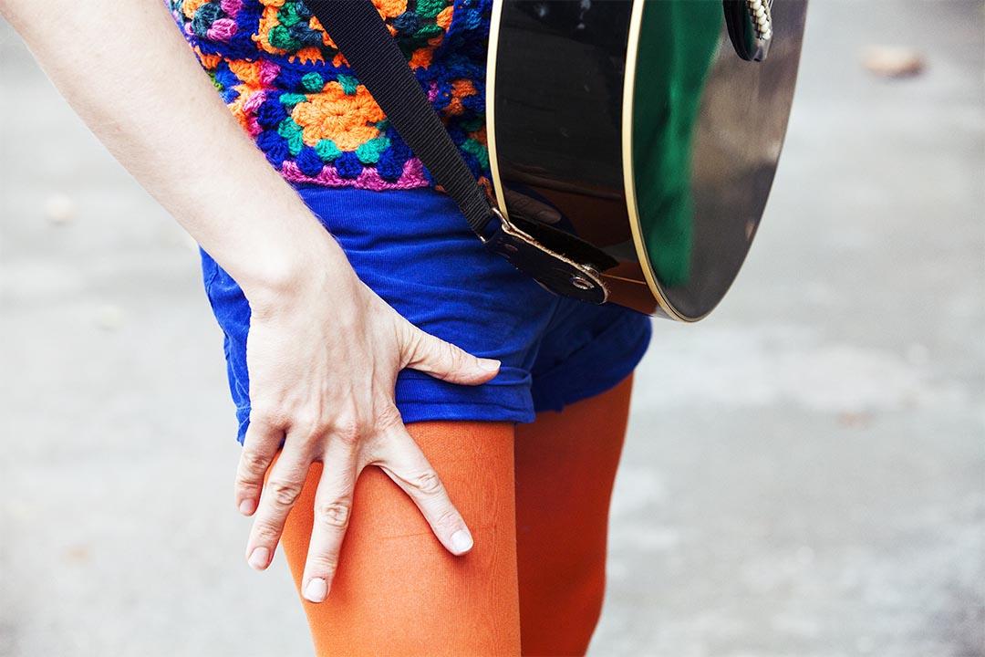 Billy Bottle's orange tights