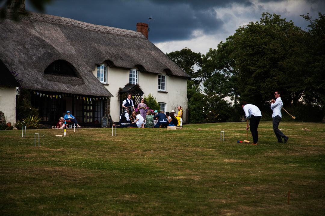 game of croquet at wedding