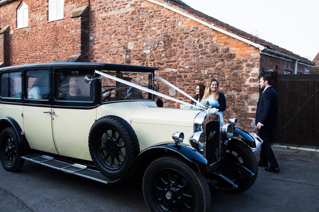 Austin wedding car