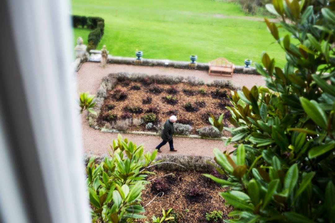 rainy day Pynes House Devon