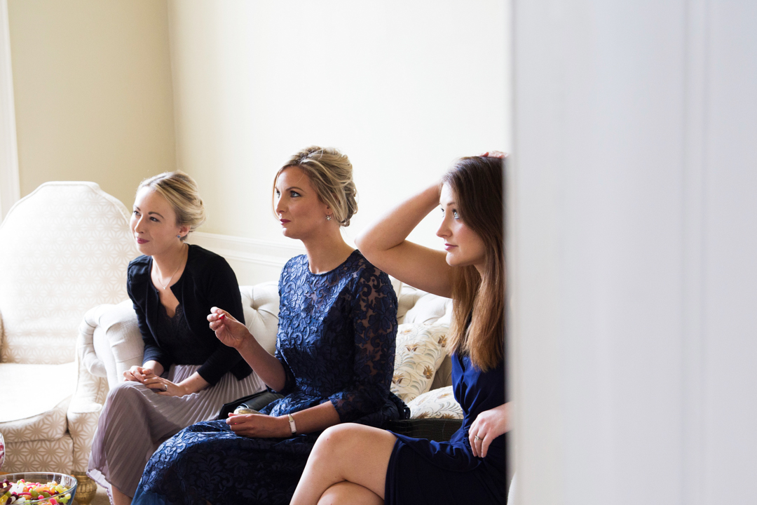ladies at a wedding