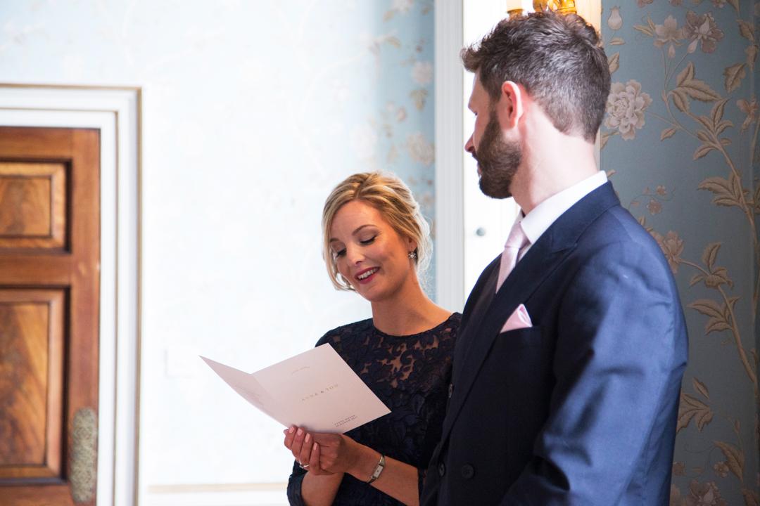wedding reading Pynes House Exeter