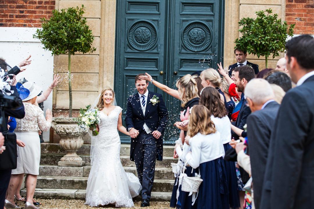 wedding confetti Pynes House Devon