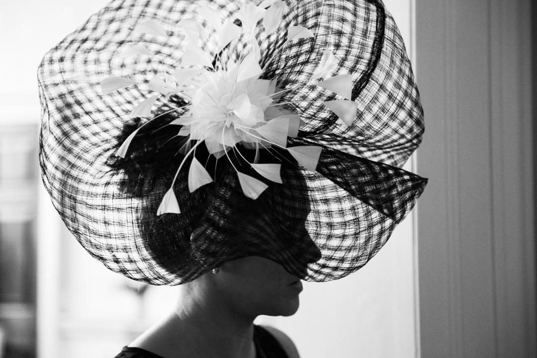 large wedding hat