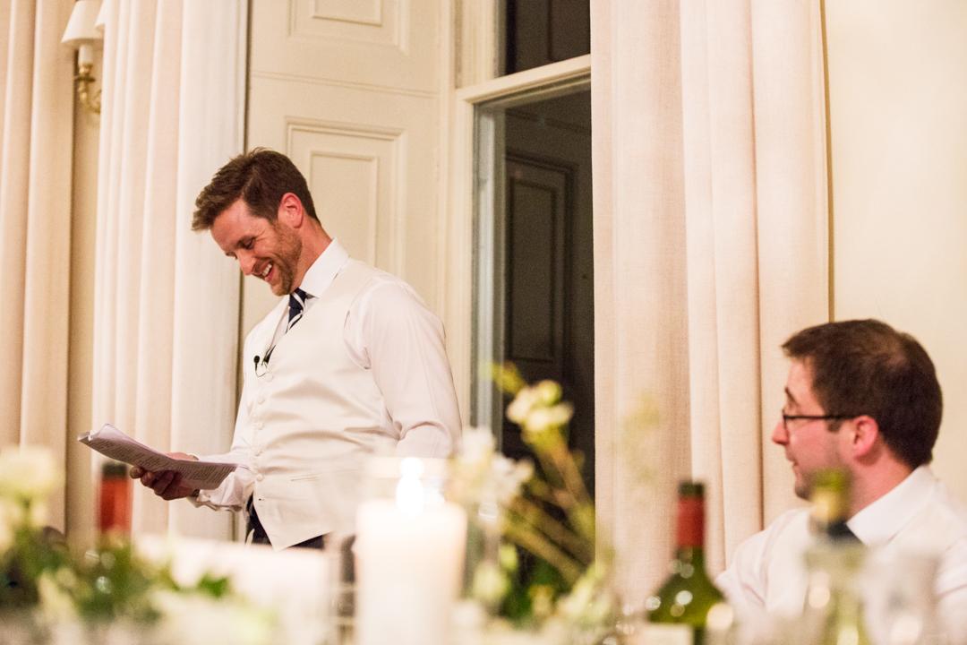 groom and best man doing speech