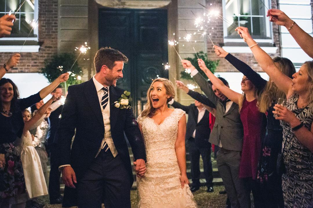 wedding sparklers South Devon