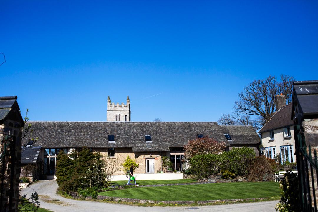 blue sky at the Oak Barn Hittisleigh