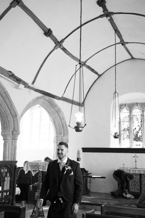 groom at St. Andrews Church Hittisleigh