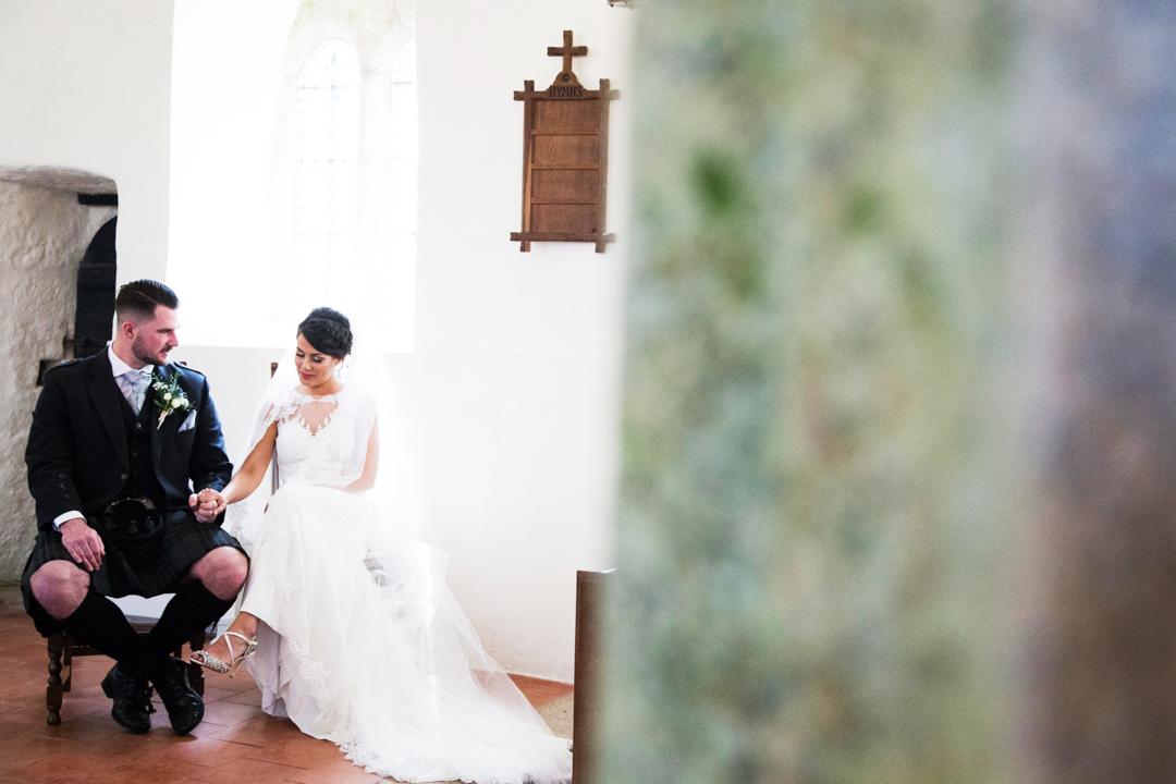 wedding ceremony St. Andrews Church Hittisleigh
