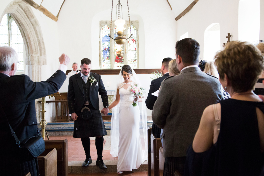 just married St. Andrews Church Hittisleigh