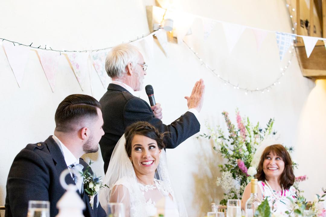 father of the bride speech The Oak Barn Hittisleigh