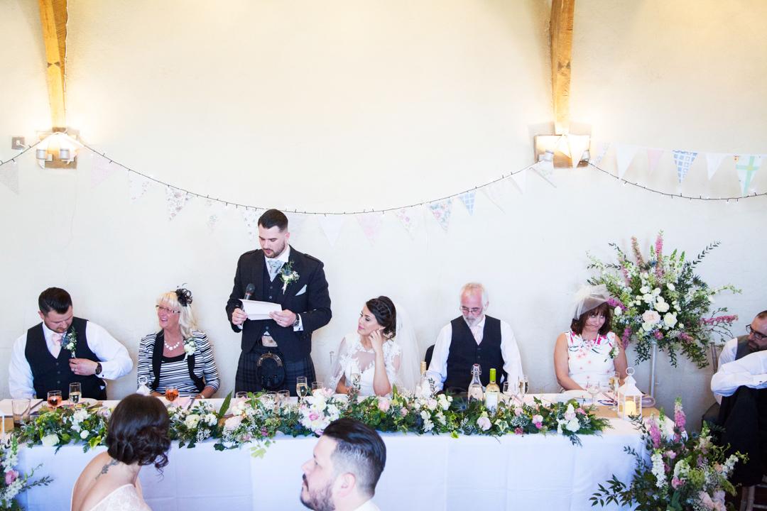 grooms speech Devon wedding
