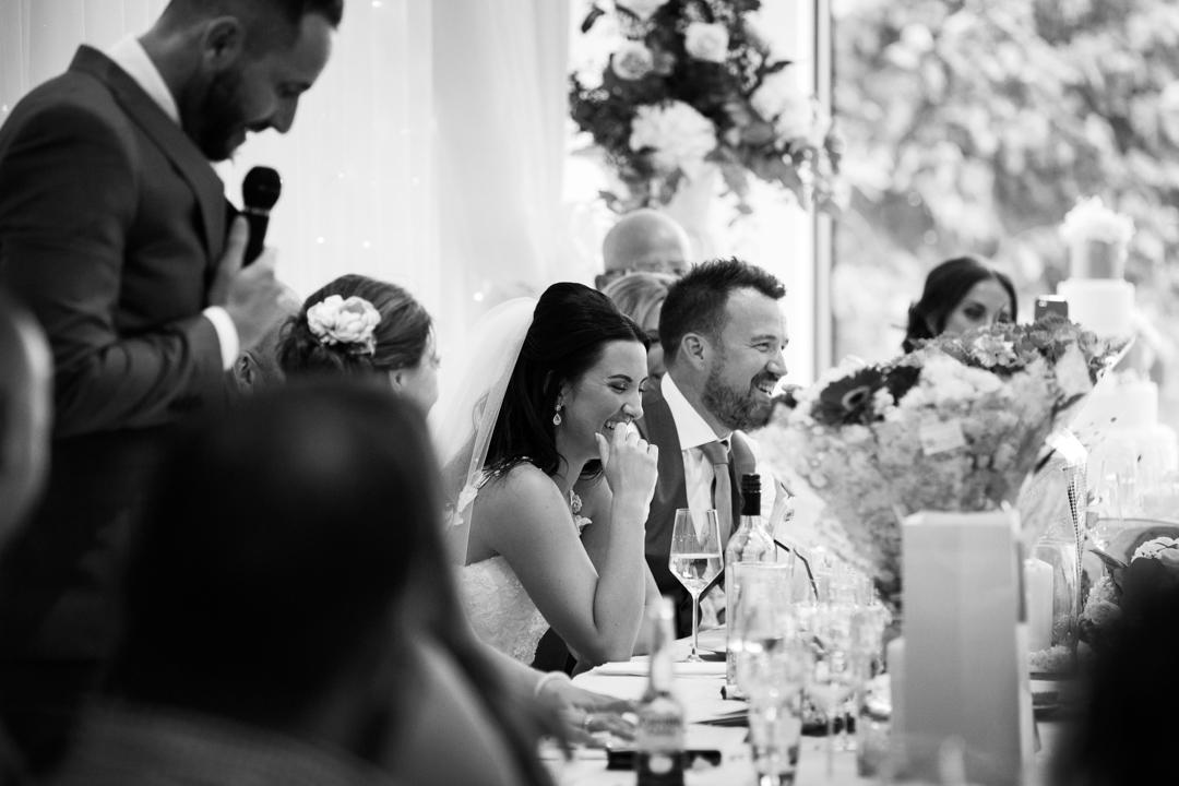 best mans speech using microphone Kingston Estate wedding