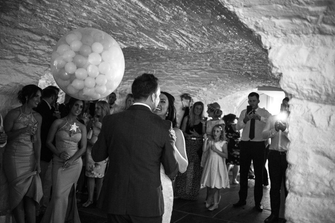 first dance in basement room Kingston Estate