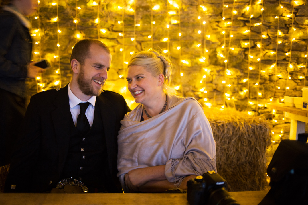 fairy lights at a wedding make a great backgrop