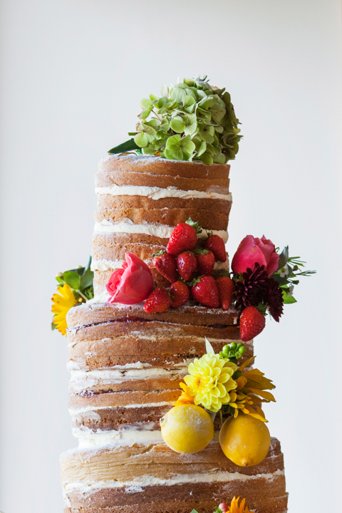 hand made wedding cake citrus decoration