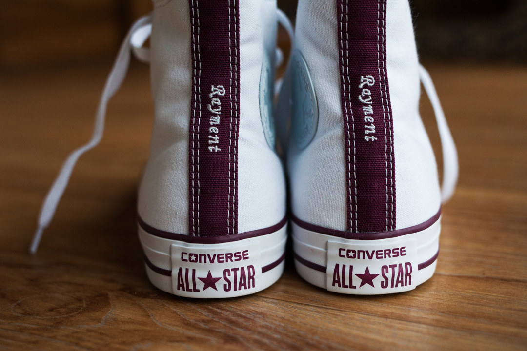 personalised bridal converse