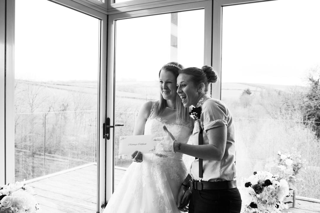 ladies just married