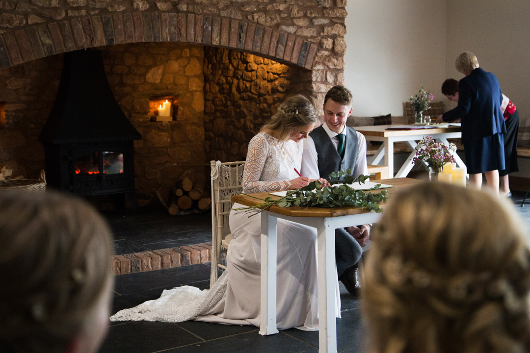 winter wedding quantock lakes