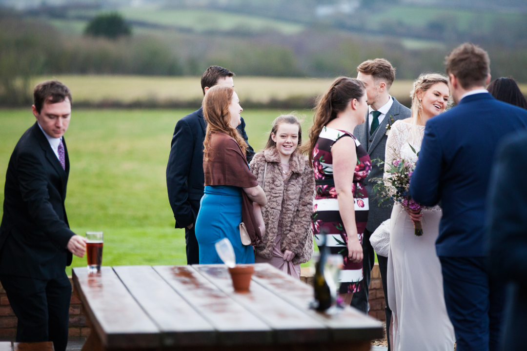outdoors winter wedding nether stowey