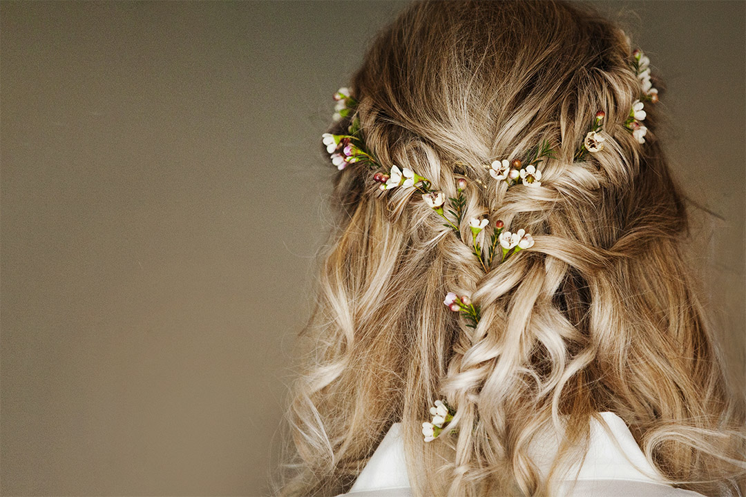 devon wedding hair