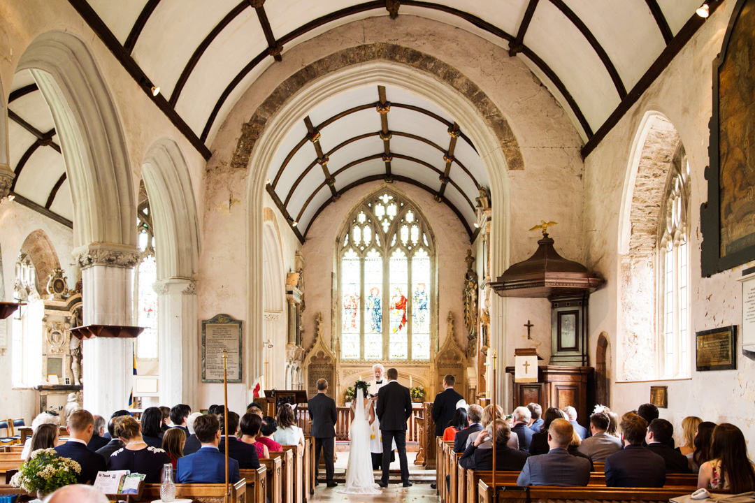 Newton St. Cyres wedding ceremony