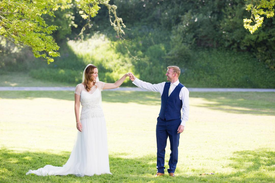 bride & groom Lupton