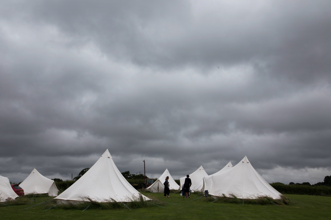 tents at Higher Eggbeer