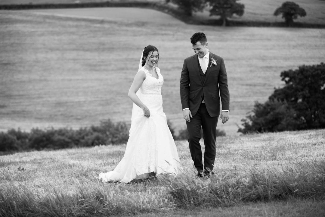 bride and groom higher eggbeer farm