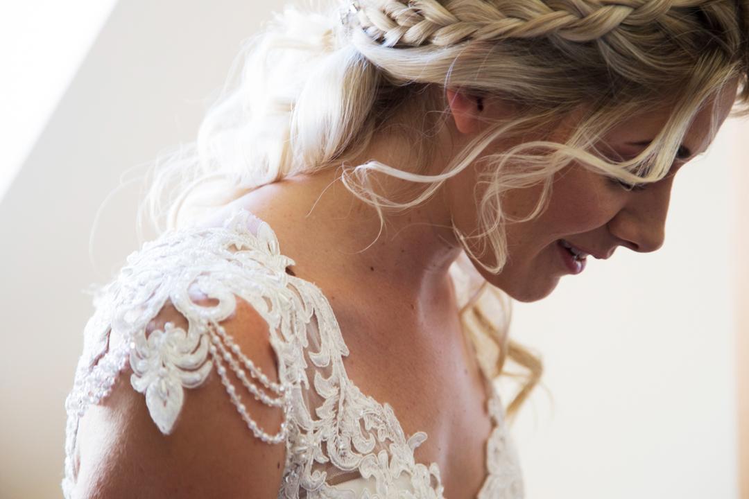 beaded shoulders wedding dress
