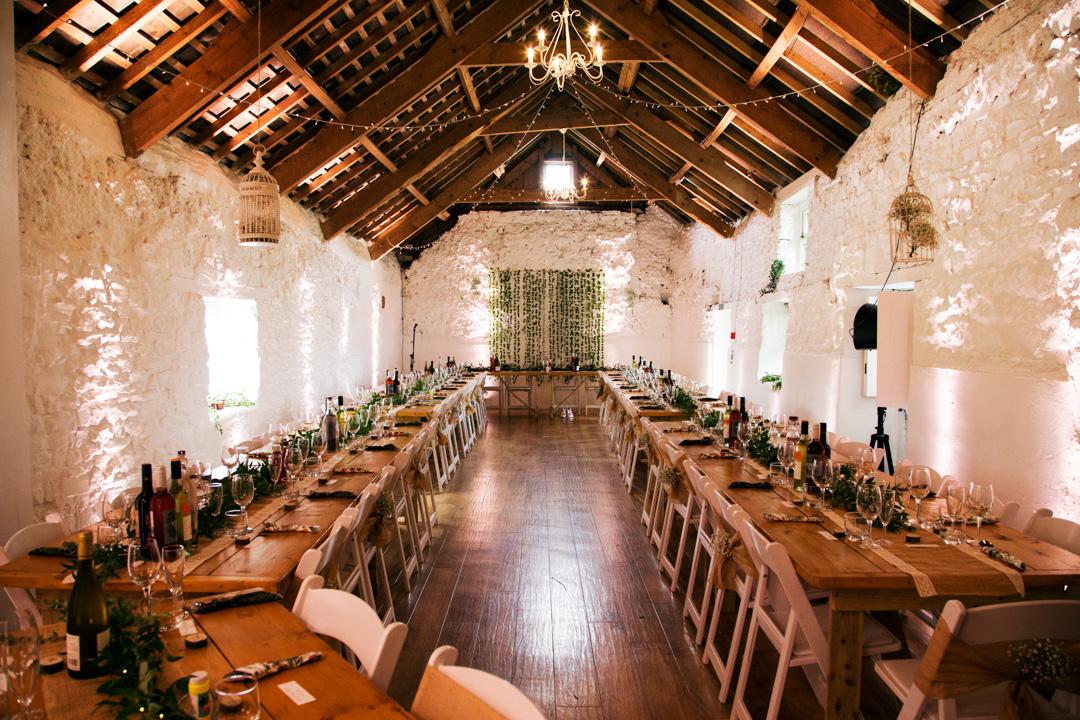 wedding breakfast the old barn