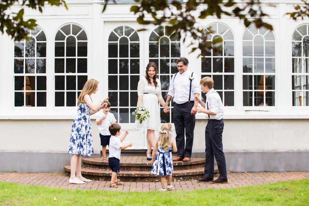 Bridwell park elopement wedding