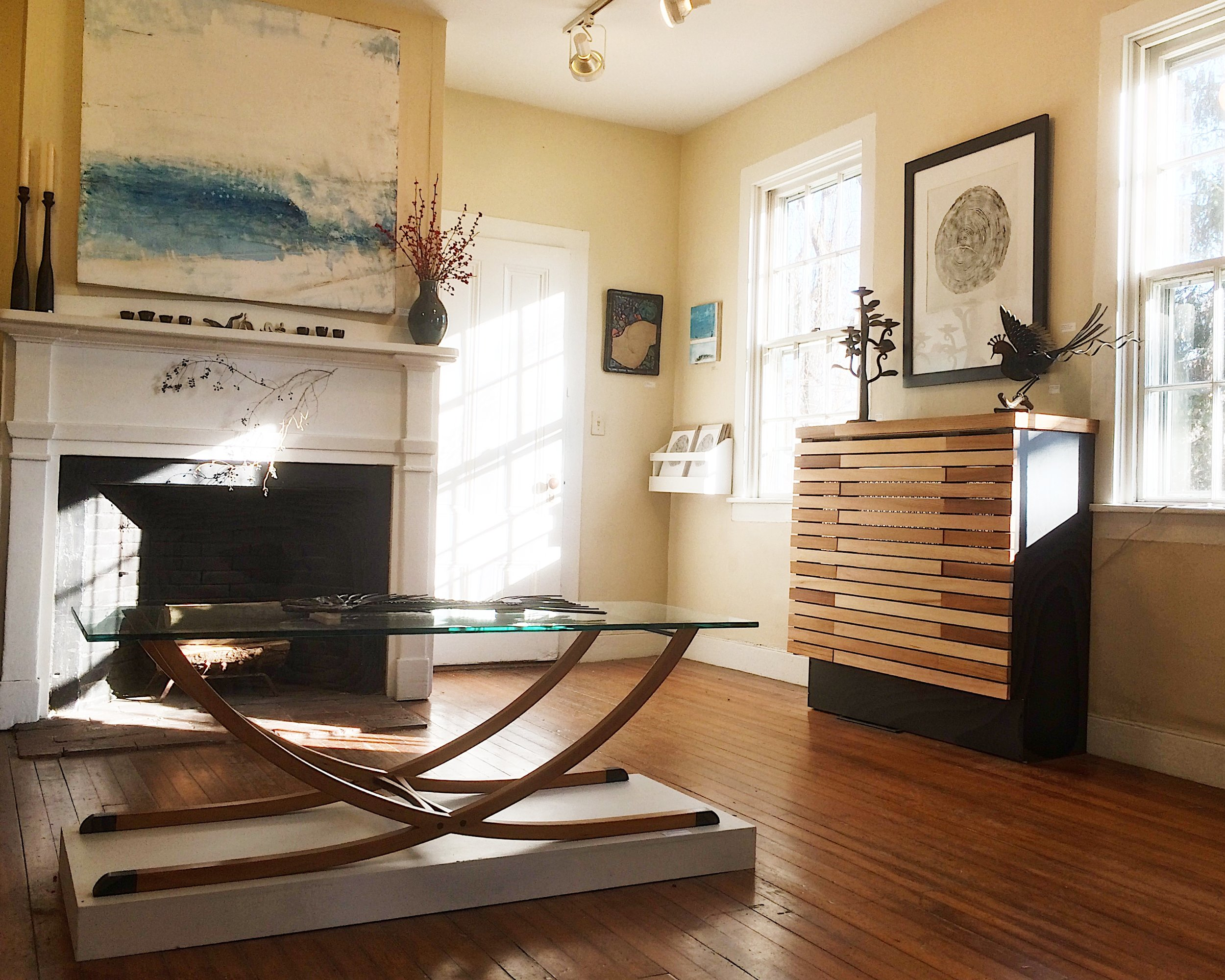 THE GODECK COFFEE TABLE ON DISPLAY AT    THE SAKONNET COLLECTIVE    GALLERY