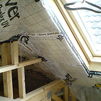 Airtight membranes in roof upgrade