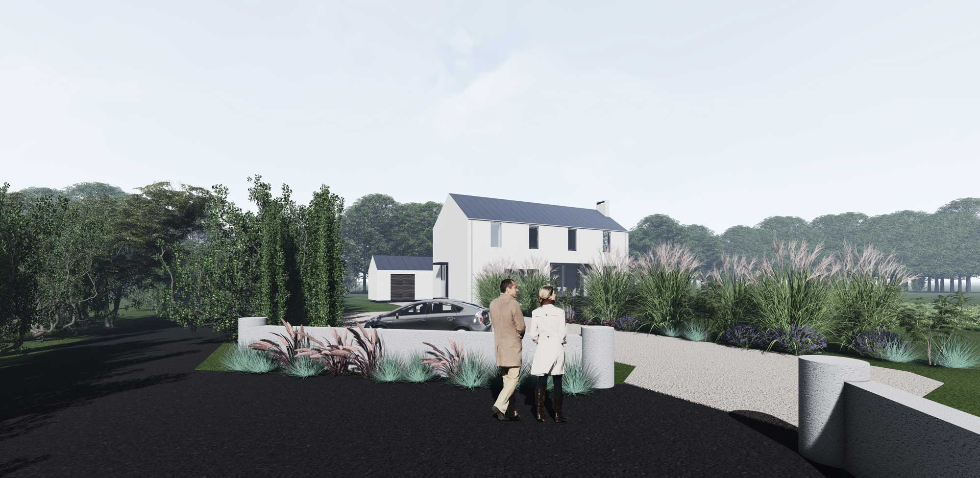 New design for one off house in Co. Meath. Planning granted