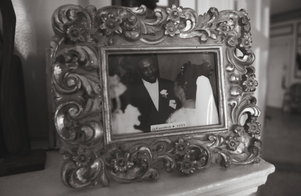 Ross and her husband Rodney Kendrick on their wedding day.